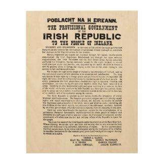 De Toenemende Proclamatie van Pasen van de Ierse Houten Canvas Print