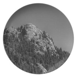 De toenemende Rots van de Maan en van Buffels Melamine+bord
