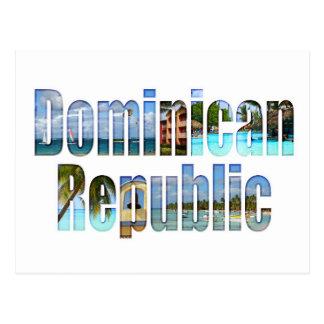 De toeristengezichten van de Dominicaanse Briefkaart