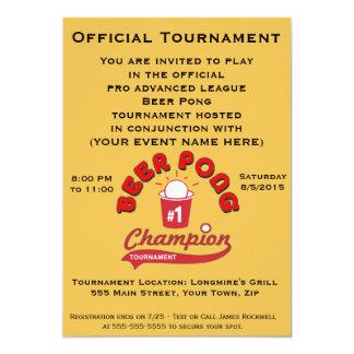 De Toernooien van Pong van het bier (Partij) 12,7x17,8 Uitnodiging Kaart