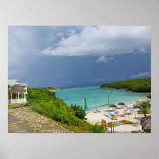 De toevlucht van de veranda in Antigua Poster