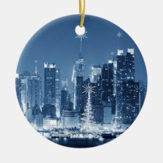 De Toevoeging van Kerstmis van de Horizon van de Rond Keramisch Ornament