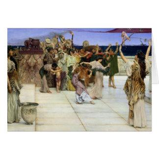 De Toewijding van Alma-Tadema |A aan Bacchus Kaart