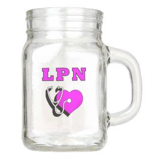 De Toewijding van de Verpleegster LPN Mason Jar
