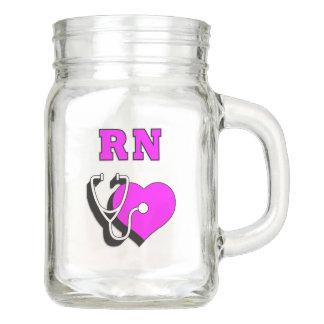 De Toewijding van de Verpleegster van RN Mason Jar