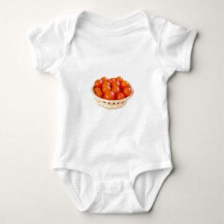 De tomaten van de kers in mand romper