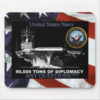 De Ton van de marine Diplomatie Muismat