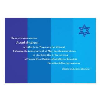 De toon- Blauwe Uitnodiging van de Bar mitswa