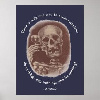 De Toost van het Skelet van Aristoteles slechts Poster