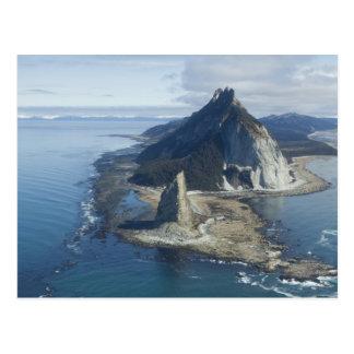 De top van de vuurtoren en van de rots bij Kaap Briefkaart