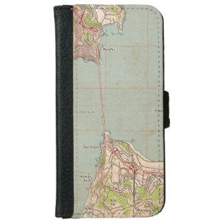 De topografische Kaart van het Golden Gate iPhone 6 Portemonneehoesje