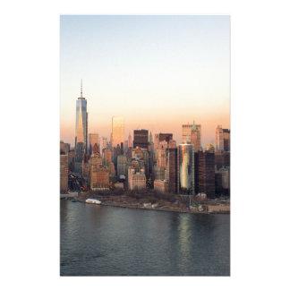 De Toren NYC van de Vrijheid van de Zonsondergang Briefpapier