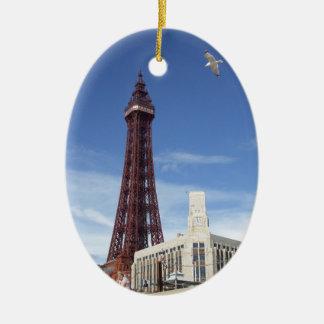 De Toren van Blackpool Keramisch Ovaal Ornament
