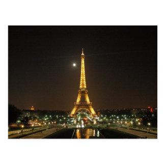 De Toren van Eiffel bij het Briefkaart van de
