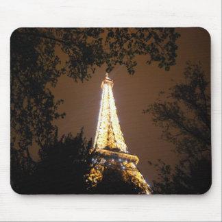 De toren van Eiffel bij Nacht Muismat