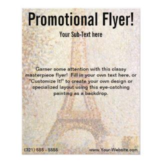 De toren van Eiffel door Georges Seurat Flyer 11,4 X 14,2 Cm