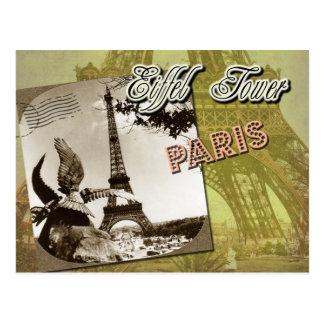 De Toren van Eiffel en Champ de Mars, Parijs, Briefkaart