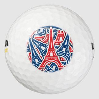 De Toren van Eiffel, het Patroon van Frankrijk Golfballen