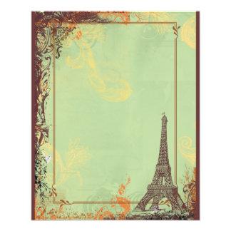 De Toren van Eiffel in de Groene Aankondigingen Flyer 11,4 X 14,2 Cm