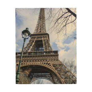 De Toren van Eiffel in de Lente Afdrukken Op Hout