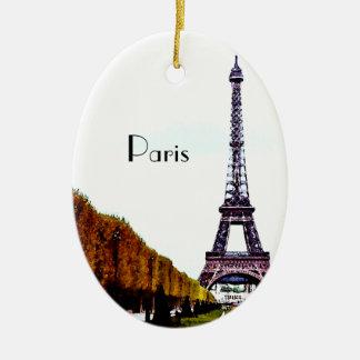 De toren van Eiffel - Parijs Keramisch Ovaal Ornament