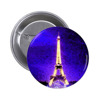 De Toren van Eiffel Ronde Button 5,7 Cm