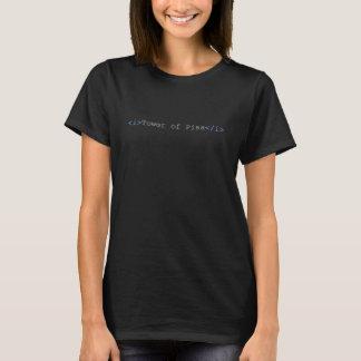De toren van het Cursief van Pisa etiketteert T Shirt