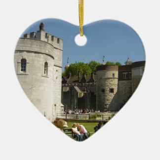 De toren van Londen Keramisch Hart Ornament