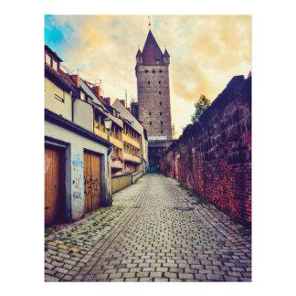 De toren van Nuremberg Flyer 21,6 X 27,9 Cm