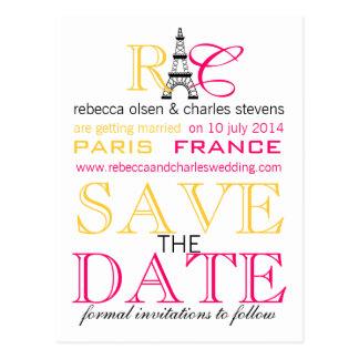 De Toren van Parijs Eiffel bewaart de Briefkaarten