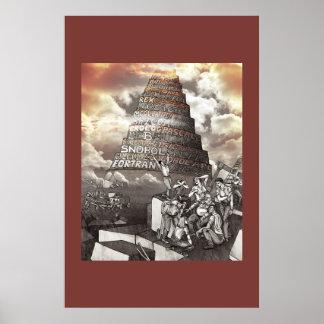 De Toren van Programmeertalen van Babel Poster