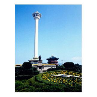 De Toren van Pusan, Pusan, Zuid-Korea Briefkaart