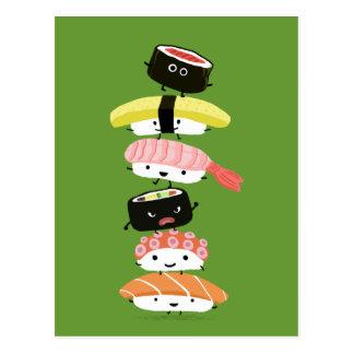 De Toren van sushi - een Gelukkige Stapel Vrienden Briefkaart