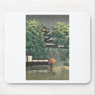 De Toren van Udo, Kasteel Kumamoto in Regen - Muismat