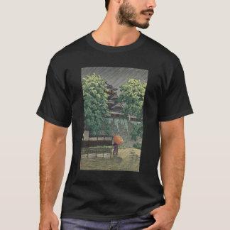 De Toren van Udo, Kasteel Kumamoto in Regen - T Shirt
