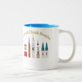 De Torenspitsen van de Kerk van Frederick Tweekleurige Koffiemok