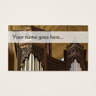 De torensvisitekaartje van het orgaan visitekaartjes