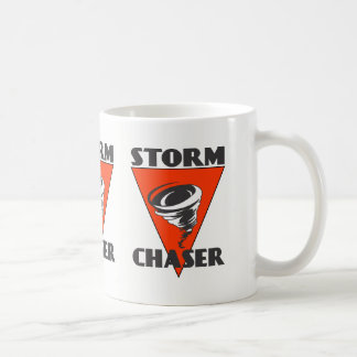 De Tornado van de Jager van het storm en Rode Koffiemok