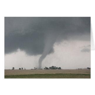 De Tornado van het gebied Wenskaart