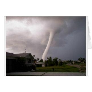 De Tornado van Kansas Wenskaart