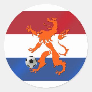 De totale Nederlandse leeuw van Oranje van het foo Ronde Sticker