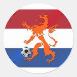 De totale Nederlandse leeuw van Oranje van het Ronde Sticker