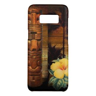 De totem tropische Bloemenhibiscus Hawaiiaan van Case-Mate Samsung Galaxy S8 Hoesje