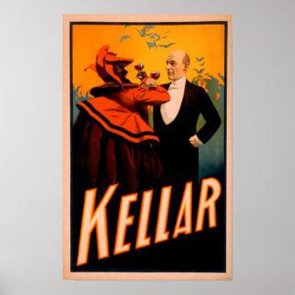 De Tovenaar die van Kellar Wijn met de Duivel Poster