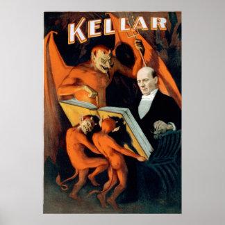 De Tovenaar van de Duivel van Kellar Poster