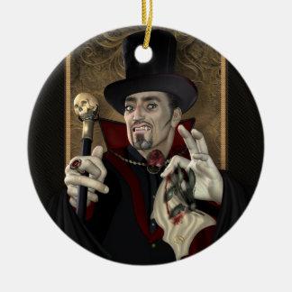De traditionele Vampier personaliseerde om Rond Keramisch Ornament
