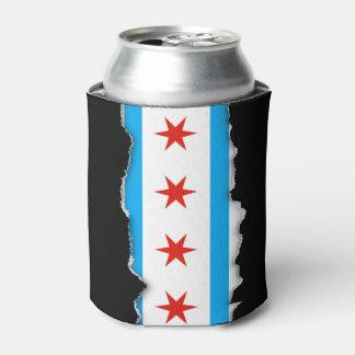 De traditionele vlag van Chicago Blikjeskoeler