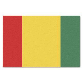 De traditionele Vlag van Guinea 25,4 X 38,1 Cm Zijdepapier