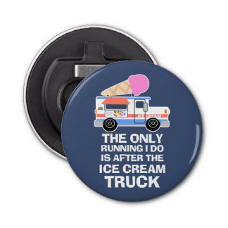 De Training van de Vrachtwagen van het roomijs Button Flesopener