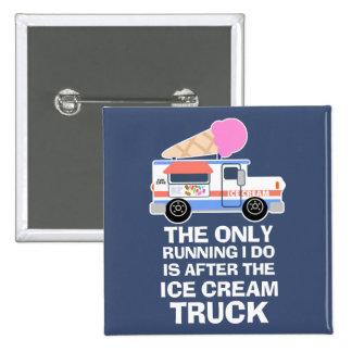 De Training van de Vrachtwagen van het roomijs Vierkante Button 5,1 Cm